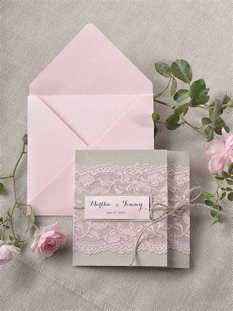 custom pocketfold wedding invitations custom listing 100 rustic lace invitations pink lace wedding invitation pocket fold wedding
