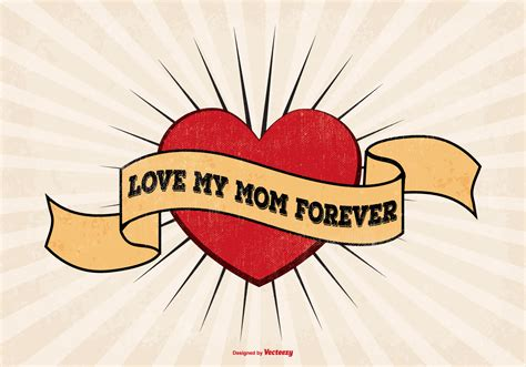 love mom tattoos i style illustration free