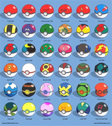 Various Poke Balls by seancantrell on DeviantArt