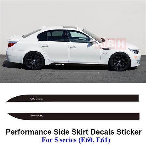 Stiker Box Motor Touring 2pcs m performance side skirt decals vinyl sticker for bmw