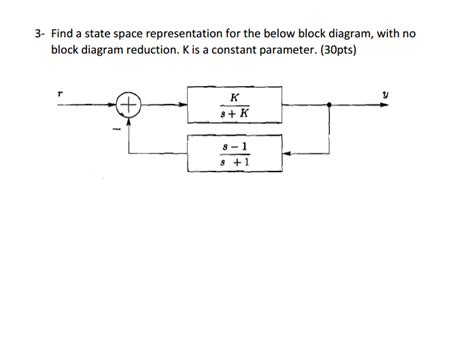 state space to block diagram solved find a state space representation for the below bl