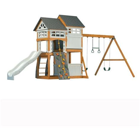 resin swing set suncast wood and resin swing set plays swings and play sets