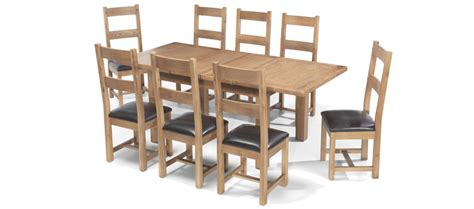 Rustic Oak 132 198 Cm Extending Dining Table And 8 Chairs Oak Extending Dining Table And 8 Chairs