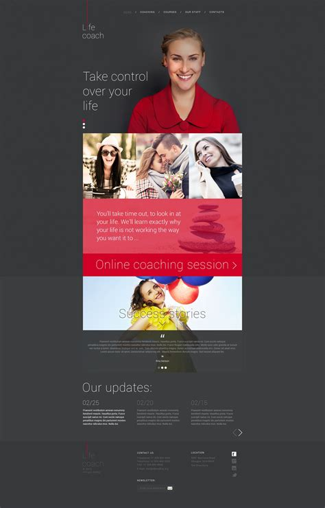 website templates for life coaches life coach website template