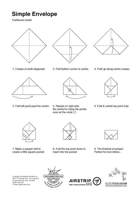 How To Fold Paper Into A Small Envelope - 17 best images about diy envelopes mail on
