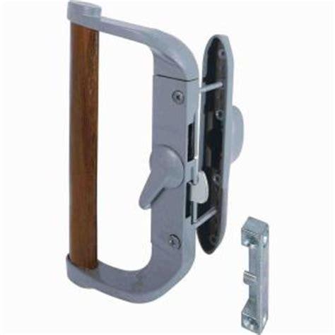 prime line sliding glass door handle surface hook gray c