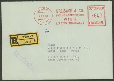 Post Schweiz Brief Einschreiben Briefe Postst 252 Cke 246 Sterreichischer Banken