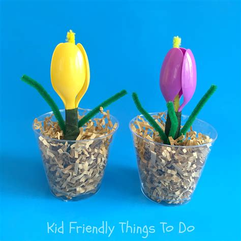 crafts flower a plastic spoon flower craft for