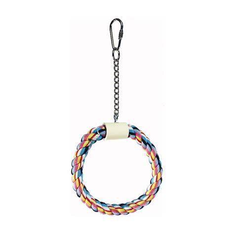 Rope Toys Circle small rope circle swing chew on this bird toys llc