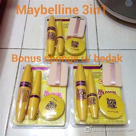 Bedak Maybelline 2018 paketan mascara eyeliner bedak maybelline 3in1 web iklan