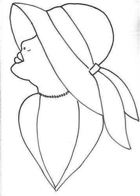 dibujos para colorear p 225 gina web de exploracionazul dibujo perfil mujer con sombrero jose pabello