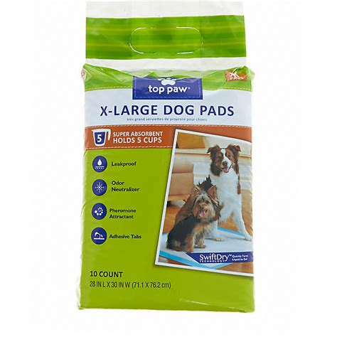 house training pads for dogs top paw 174 x large dog pads dog potty training petsmart