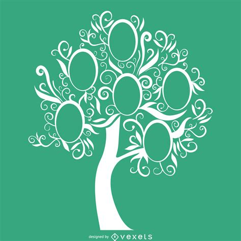 Green Family Tree Template Vector Download Stock Vector Family Tree Template With Portraits Of Relatives And Place For Text On Green