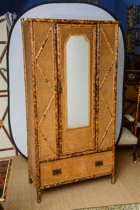 Rattan Armoire by 19th Century Bamboo And Rattan Armoire At 1stdibs