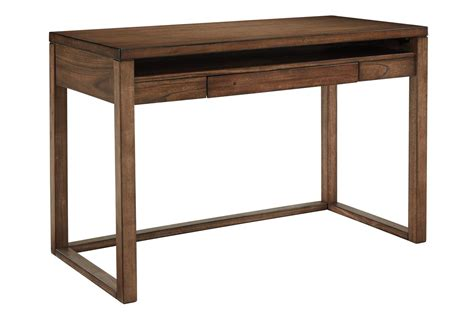 Small Brown Desk Baybrin Home Office Small Desk In Rustic Brown By