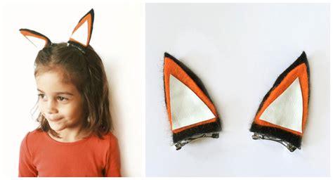 Felt Fox Hair Clip diy felt fox hair