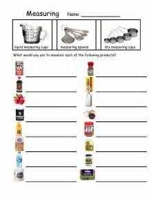 Kitchen Measuring Lesson Plans Measuring Devices Worksheets Skills And School
