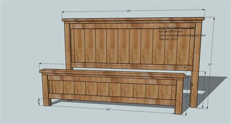 farmhouse bed plans plans farmhouse bed king must try diy pinterest