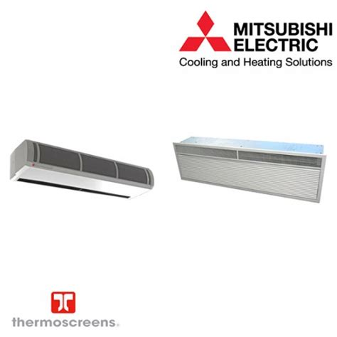 mitsubishi electric air curtains mitsubishi electric free standing heat pump air curtain hp1000dxe puhz zrp71vha 7 4 kw