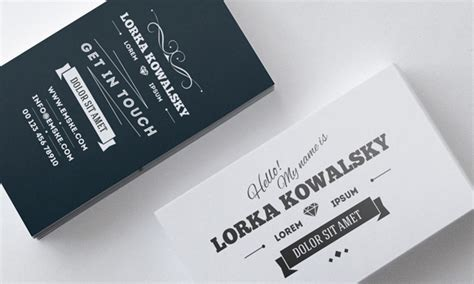 Retro Business Cards Templates Free by Retro Business Card Template Vol 1