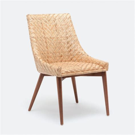 rattan kitchen furniture woven rattan dining chair mecox gardens