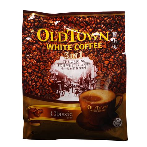 Kopi Town White Coffee Classic jual town white coffee classic 3 in 1 kopi putih mix impor graciana luxe tea