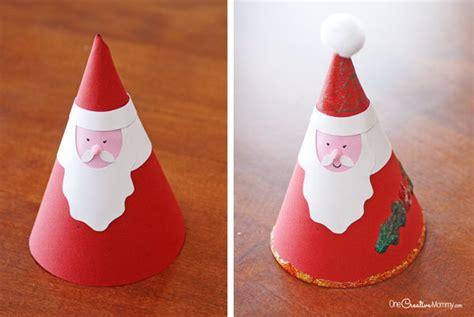Santa Claus Paper Craft - irresistible santa claus craft onecreativemommy