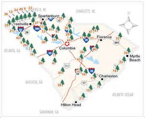 South Carolina State Parks Map by Educating South Carolina Did You Know North Carolina S