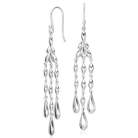 Sterling Silver Chandelier Vintage Chandelier Drop Earrings In Sterling Silver Blue Nile