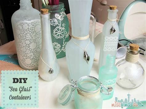 Diy Glass Bottle Decor by Diy Projects Sea Glass Tutorial Make Your Own Decor