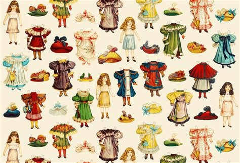 How To Make Fabric Paper Dolls - paper dolls fabric panel set by by