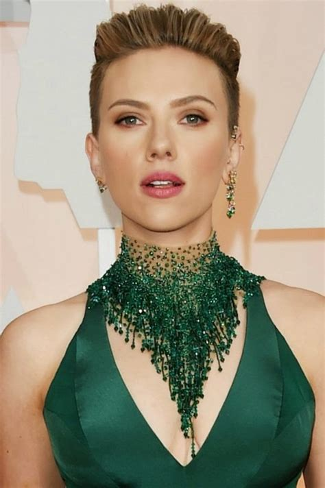 scarlettjohanssonhaircut at the oscars oscars 2015 best beauty