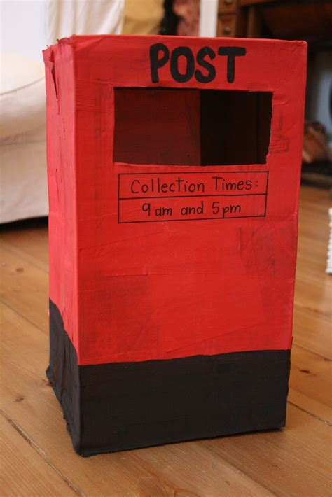 How To Make Post Box With Chart Paper - post box pretend play the imagination tree