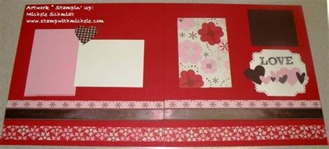 march scrapbook layout st with michele