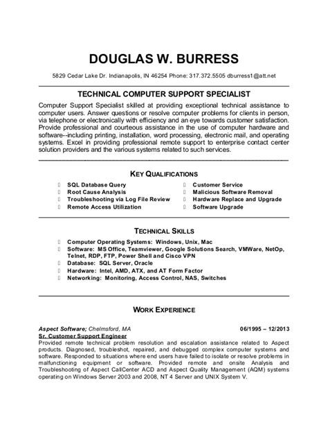 Targeted Resume by Doug Burress Updated Targeted Resume Templatev3