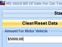ms word bill of sale for car template software download
