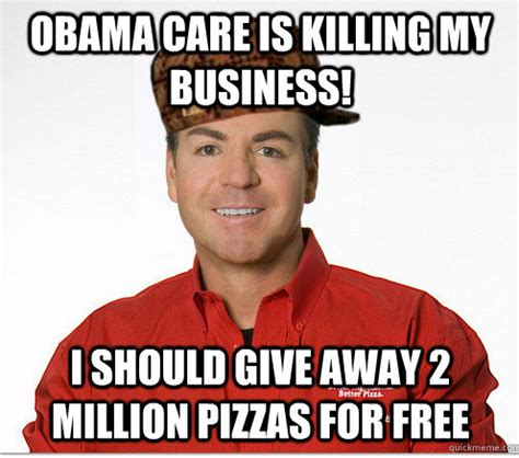 Anti Obamacare Meme - papa john s gets bludgeoned by memes for obamacare stance