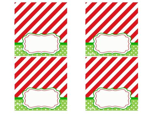 Free Christmasplace Card Template by Tent Style Place Cards Printable Magic Of