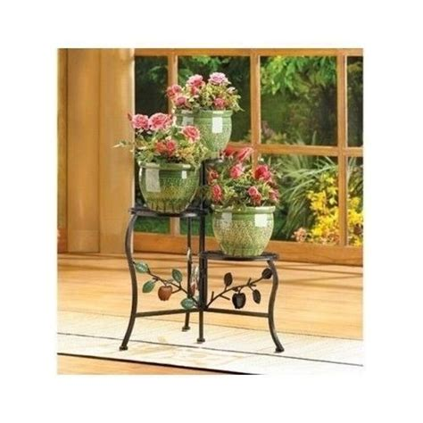 Patio Plant Stand by 3 Shelf Flower Pot Plant Stand Wrought Iron Indoor Outdoor