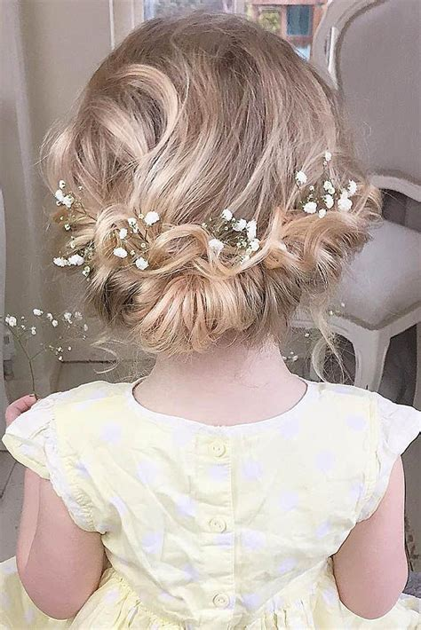 wedding hairstyles for 50 yr olds 33 cute flower girl hairstyles 2017 update girl