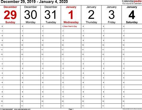 printable calendar  weekly qualads