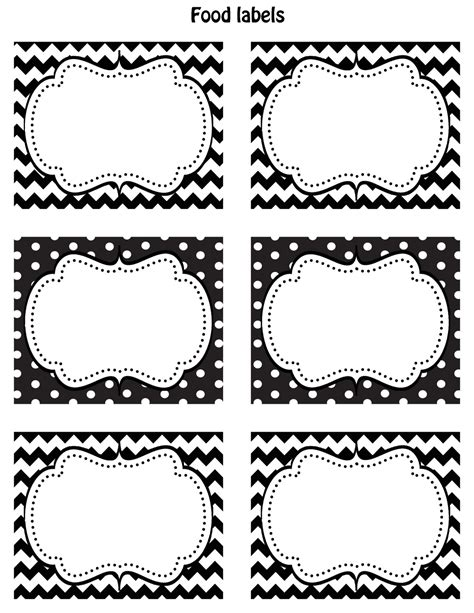 free printable label templates happy friday free printable food labels