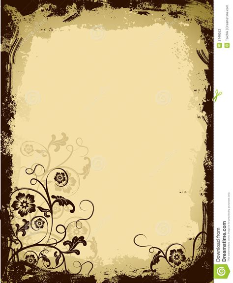 grunge page with floral border stock illustration illustration of fashioned aged 2582659 grunge floral border vector stock vector image 2146552