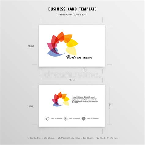 business card template size in mm abstract creative business cards design template name