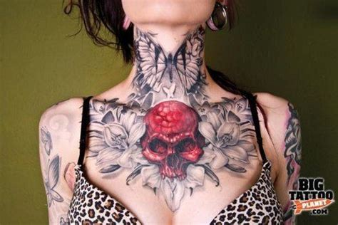 tattoo chest neck chest tattoos on tumblr