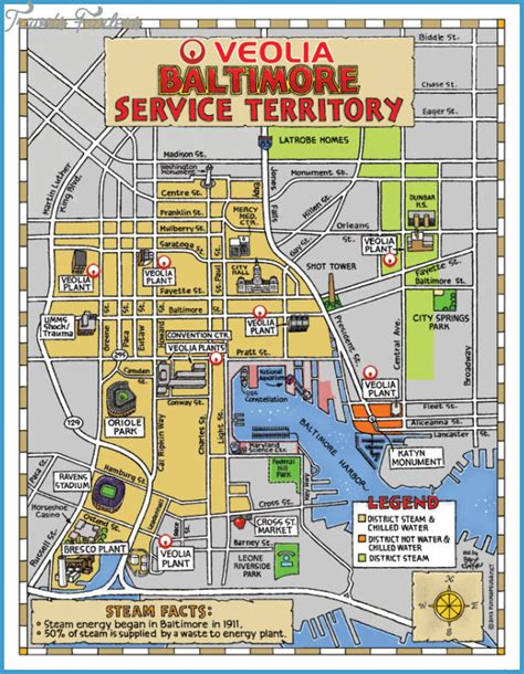 printable map of baltimore maps update 21051488 tourist attractions map in