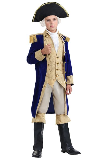 B1416 Gw Shirt Child george washington costume for boys