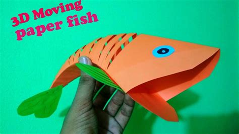 how to make an origami moving paper fish 3d moving fish