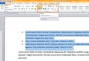creating bespoke bullet points in a word document va pro