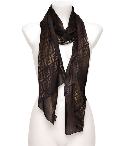 fendi s metallic finish silk scarf designer